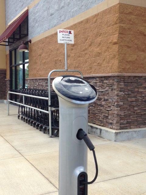 EV charger at Petco